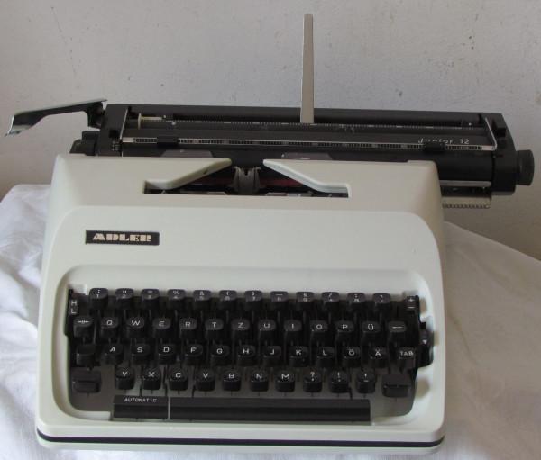 Mechanische Schreibmaschine Adler Junior 12 mit Anleitung - bis DIN A3 -