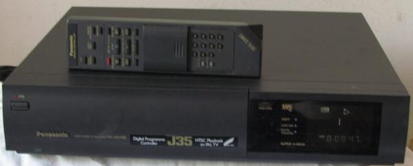 VHS-Videorecorder Panasonic NV-J35 mit Fernbedienung und Gewährleistung