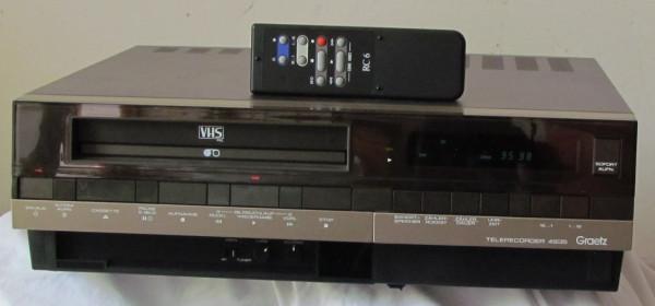 VHS-Videorecorder Graetz Telerecorder 4935 + Original-Fernbedienung + Anleitung